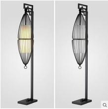 New Chinese Style Wrought Iron Floor Lamp Modern Creative Birdcage Living  Room Bedroom Study Hotel Club