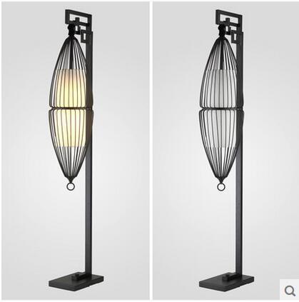 Wrought Iron Floor Lamps Mesmerizing New Chinese Style Wrought Iron Floor Lamp Modern Creative Birdcage