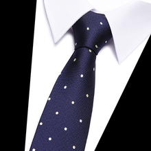 Blue Polka dot  Plaid Tie 7.5cm Necktie Men's Paisley Tie Red Fashion Floral Ties For Men Business Wedding Party Accessories fashionable dot shape decorated wedding red tie for men