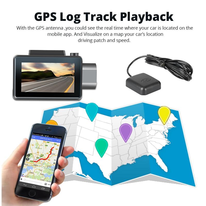 Phisung K9 dash cam pro 3G Auto DVR mit Android GPS log Dual Objektiv 1080 p dash kamera WIFI auto cam Video Kanzler drive recorder - 5