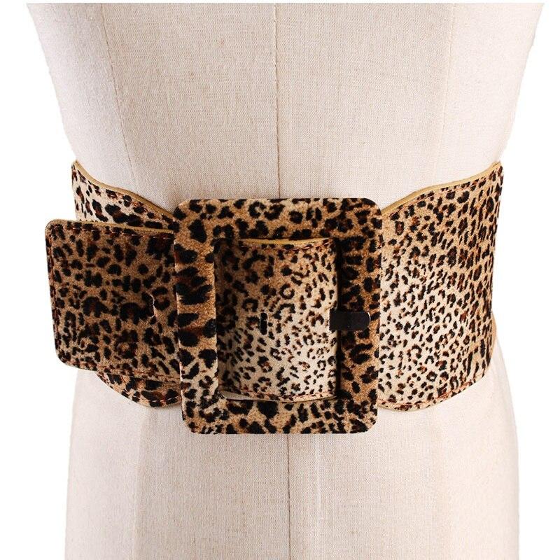 Objective Spring Fashion Wide Sexy Leopard Belts For Women Cloth Fabric Elastic Belt All-matched Corset Dress Soft Waistband Riem Heren 100% Original Apparel Accessories