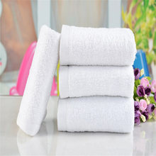 1PC White Soft Cotton Towels 30*65cm Hotel Bath Towel Washcloths Hand Towels High Quality Offer Dropshipping #FG02(China)