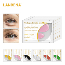 LANBENA 20pcs 10pairs 5pairs 24K Gold Crystal Collagen Eye Mask Patches Dark Circle Puffiness Bag Anti Wrinkle Face Care