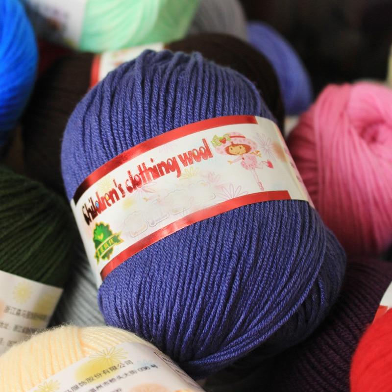 10balls=500g Baby Silk Cashmere Yarn For Hand Knitting Top Quality Crochet Hook Protein Milk Yarn Threads Lanas Para Tejer Yarn