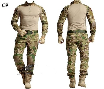 Tactical Military Airsoft G3 Uniform Clothing Army Camouflage Uniform Tactical Pants W/ Knee Pads Camouflage Hunting Clothes