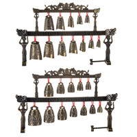 Archaistic Chime Exquisite Chime Bells Musical Instrument Model Decoration Set Of Bells Single Layer With 12