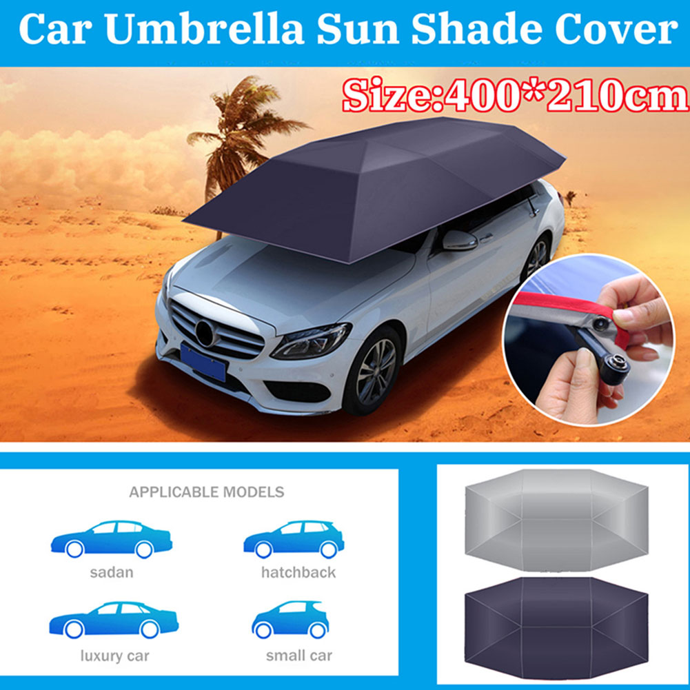 Hot voiture parapluie soleil ombre couverture tente tissu auvent Sunproof 400x210 cm pour extérieur JLD *