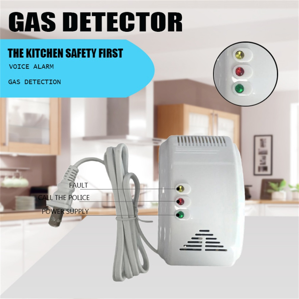 New Gas Leak Warning Detector Sensor Alarm for Home Security LS-838-1U In Stock!!Best Selling and High Quality In 2017!!!