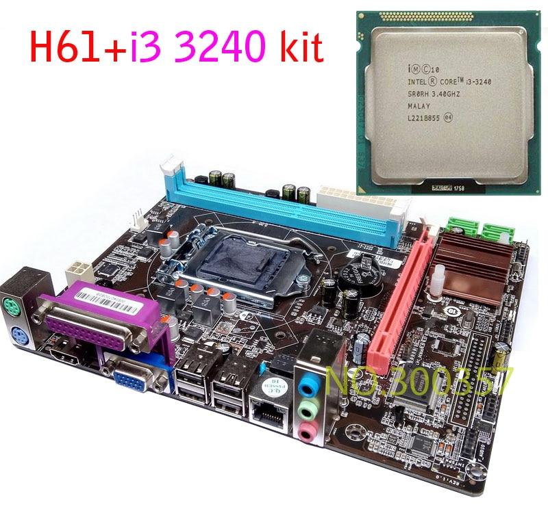 NEW Micro-ATX DDR3 LGA1155 H61+I3 3240 Motherboard KIT
