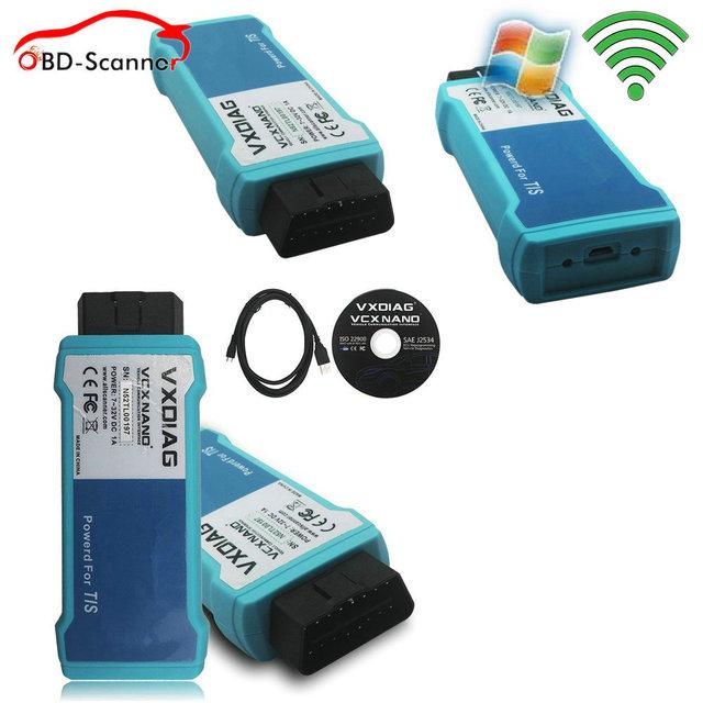 Mais novo programador ecu para toyota mini-vci j2534 tis vxdiag nuvem rede ferramenta de diagnóstico para a toyota prius prado camry scanner