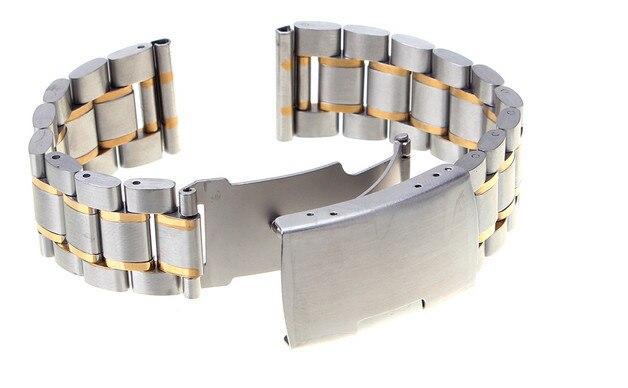 Высокое качество 10 шт/серия 24 мм одноцветное Нержавеющая сталь Смотреть полоса ремешок 4 цвета-123105
