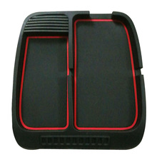 Red Stripe Car anti slip mat Stop Sign Dashboard Large size for Mobile Phones Coins