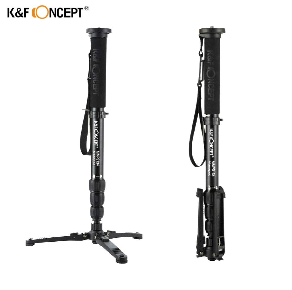 K&F CONCEPT MMP3134 31mm Max Tube Lightweight Portable Aluminum Alloy Travel Photo Video Monopod Portable Camera Tripod Stand gelatinase mmp 2 mmp 9 and aminopeptidase n cd13 in breast carcinoma