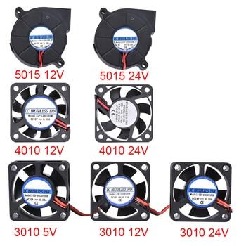 Piezas de impresora 3D 3010/4010/5015 ventilador de refrigeración 5 V/12 V/24 V ventilador sin escobillas ventilador para V6 j-head Bowden extrusor Reprap Turbo Fan