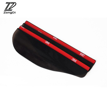ZD 2pc Car Styling Rain Brow Rearview Mirror Cover For Ford Focus 2 3 Fiesta Mondeo Ranger Kuga Seat Leon Ibiza Lexus Accessorie image