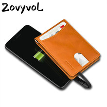 ZOVYVOL 2019 New Unisex Smart Wallet With USB Charging Wallet Adapt For Ipone And Android Type-C Capacity 4000 mAh 3 Colors