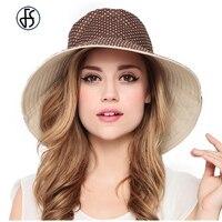 Mode Sommer Hut Für Frauen Reversible Polka Design Sonnenhüte Damen Breiter Krempe Strand Visier Weibliche UV Schützen Cap
