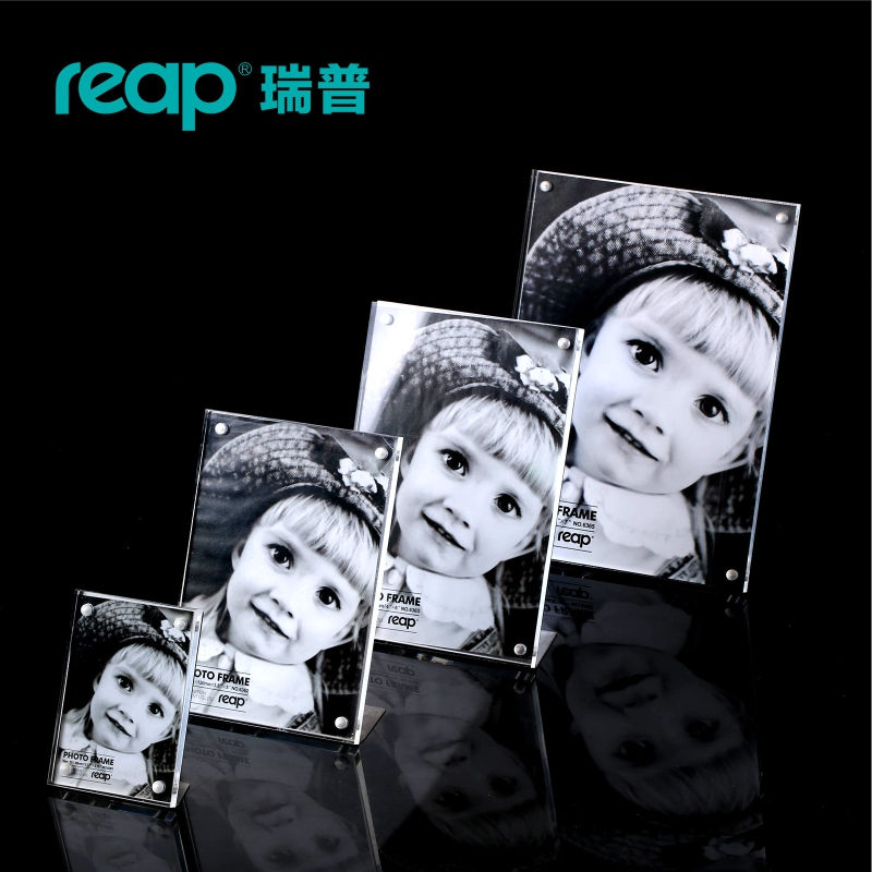 Reap Mag Acrylic L-shape Magnet Desk Sign Holder Card Display Stand Table Menu Photo Frame For Store Home Restruant