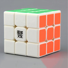 Mo Yu Tang Long 3*3*3 White Magic Cubes Puzzle Speed Cube Educational Toys Gifts for Kids Children(China)