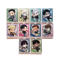 Anime YURI!!! on ICE Keychain Victor Nikiforov Jean Seung Guang-Hong All Members Yuri Pendant De Llaveros Keychain Keyring