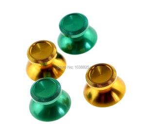 Image 5 - Aluminium Chrom Joystick Caps Ersatz Teile Thumbsticks Metall Joystick Kappe für Xbox One PS4 Controller 15 paare/los = 30 teile/los