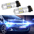 2x White 6000K DC12-24V PWY24W PW24W 2835 10SMD 300LM 3W Auto LED Xenon Canbus Error  Car DRL Bulb For BMW F30 3 Series