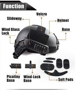 Image 4 - Capa tática militar de qualidade para capacete airsoft, cobertura rápida para capacete de paintball, acessórios esportivos, proteção para saltos rápidos