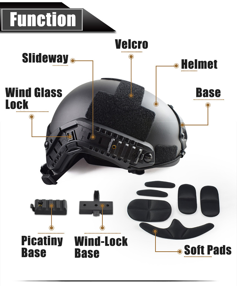 Image 4 - Quality Military Tactical Helmet Fast PJ Cover Casco Airsoft Helmet Sports Accessories Paintball Fast Jumping ProtectiveHelmets   -
