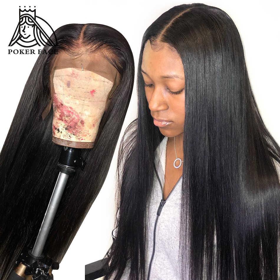 بوكر الوجه مستقيم شعر مستعار دانتيل كامل عذراء الشعر 250% الكثافة 360 الدانتيل الباروكة أمامي للنساء الشعر الهندي الإنسان الطبيعي