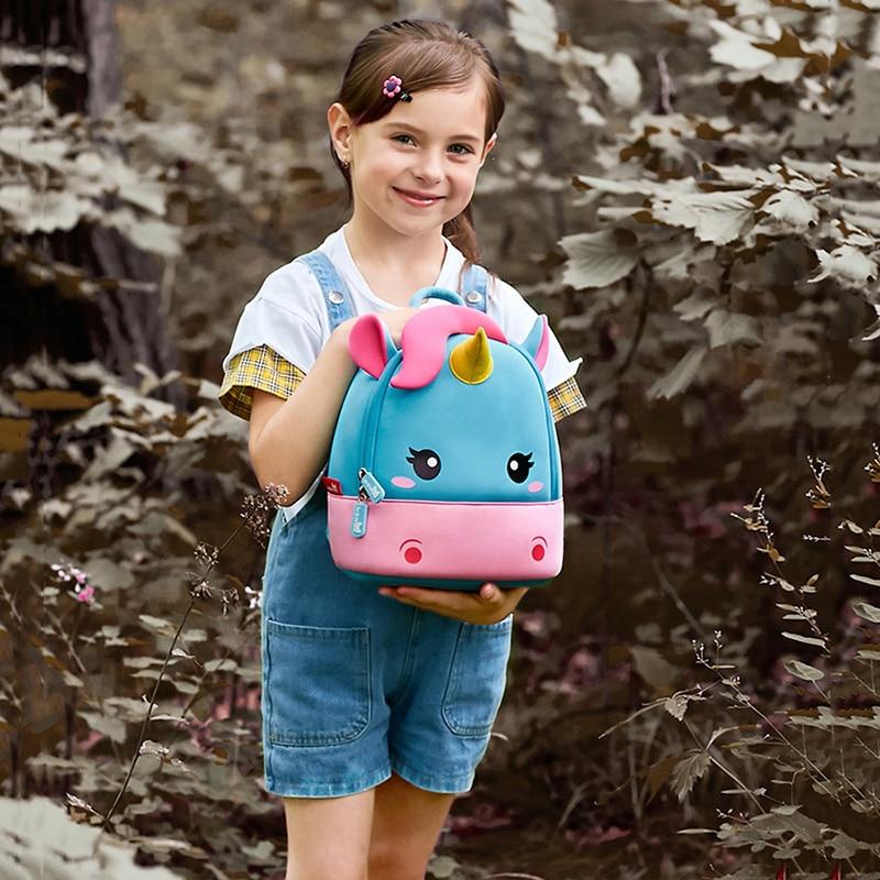 Children School Backpack Kids Cartoon Rainbow Unicorn bag (3)
