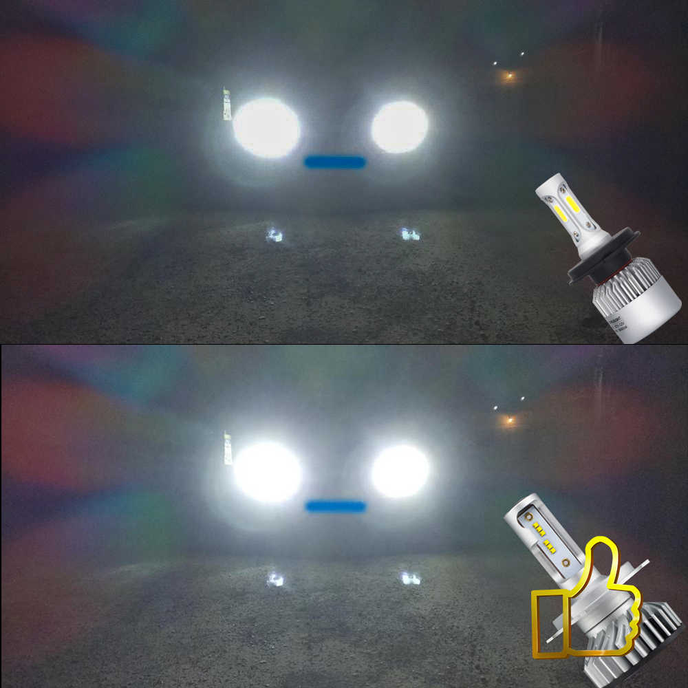 Uttril Car Headlight H4 H7 H1 LED Canbus H11 H8 H9 9004 HB3 9006 HB4 4300K 5000K 6500K LED Lamp 60W 12000LM Auto Headlamp 12V