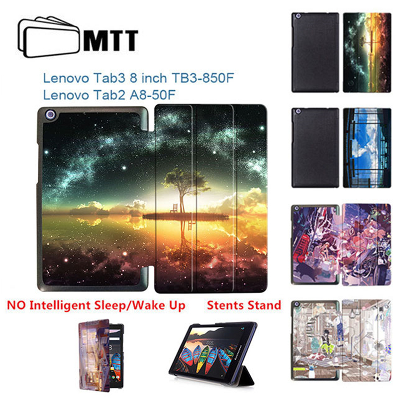Galleria fotografica MTT Anime Sky for Lenovo Tab3 8 inch TaB3 850M 850F Tablet Case For Lenovo Tab 2 A8-50F A8-50LC Magnet Stand PU Leather Cover