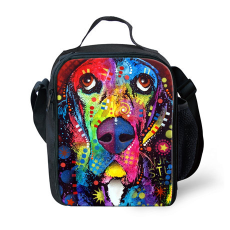 Fashion Lunch Box for Kids Thermal Bag Lunch Box for School,Animals Print Picnic Bags for Boys and Girls Children Lunch Bags