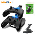 SQDeal Game Accessories LED Light Dual Controller Charging Dock Station Charger for Microsoft Xbox One Controllers