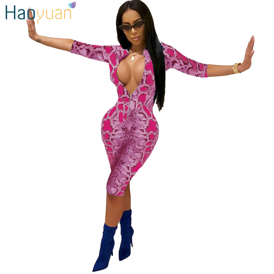 9e99b2b8b19 HAOYUAN Snake Print Playsuit Sexy Costumes Casual Overalls One Piece  Bodycon Shorts Rompers Womens Jumpsuit Snakeskin Bodysuit-in Rompers from  Women s ...