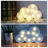 IKVVT Novel Cute 3D Cloud LED Night Light Wall Lamp Baby Kids Bedroom Home Decor Gifts