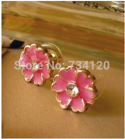 EX090 New style Free Shipping 2018 new arrival beautiful five leaves flowers earring for women