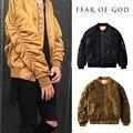 Страх Божий Куртка Мужчины Женщин MA-1 Bomber ТУМАН Пальто Альфа Industries Рейса Военный Летчик Куртки Теплый Страх Божий Куртка