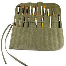 Новая сумка для карандашей с краской, с 22 слотами, двухслойная, сворачивающаяся, Холщовая Сумка, чехол-органайзер, идеально подходит для хранения художественных красок