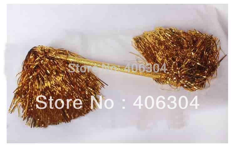 Free Shipping.double-ended Pompom,Cheering Metallic Pom Pom,Cheerleading products,125G ballroom costume