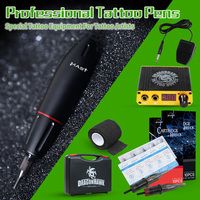 Professional Tattoo Pen Kit Rotary Motor Box Cartridge Needles Tips Tattoo Artist Kits Body Arts Supplies