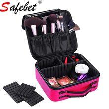 Wanita Profesional Pelancaran Makeup Kes Beg Kosmetik Penyimpanan Berus Kecantikan Mengatur Kotak Kelengkapan Portable Besar Zip Kapasiti Besar