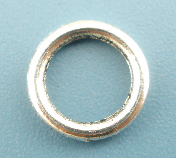 DoreenBeads  Zinc Metal Alloy Closed Soldered Jump Rings Round Antique Silver Color 8mm( 3/8