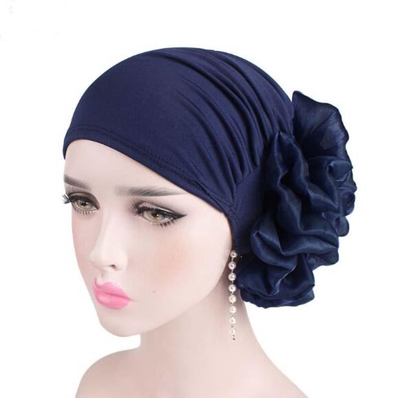 Korean Flower Spandex Elastic Cloth   Skullies     Beanies   Spring Autumn Brand Chemotherapy Hat For Women Fashion Turban