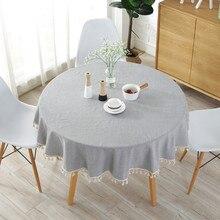 SKTEZO Table Cloth Round Wedding Party CoverCotton polyester Tablecloth Nordic Tea Coffee Tablecloths Home Kitchen Decor