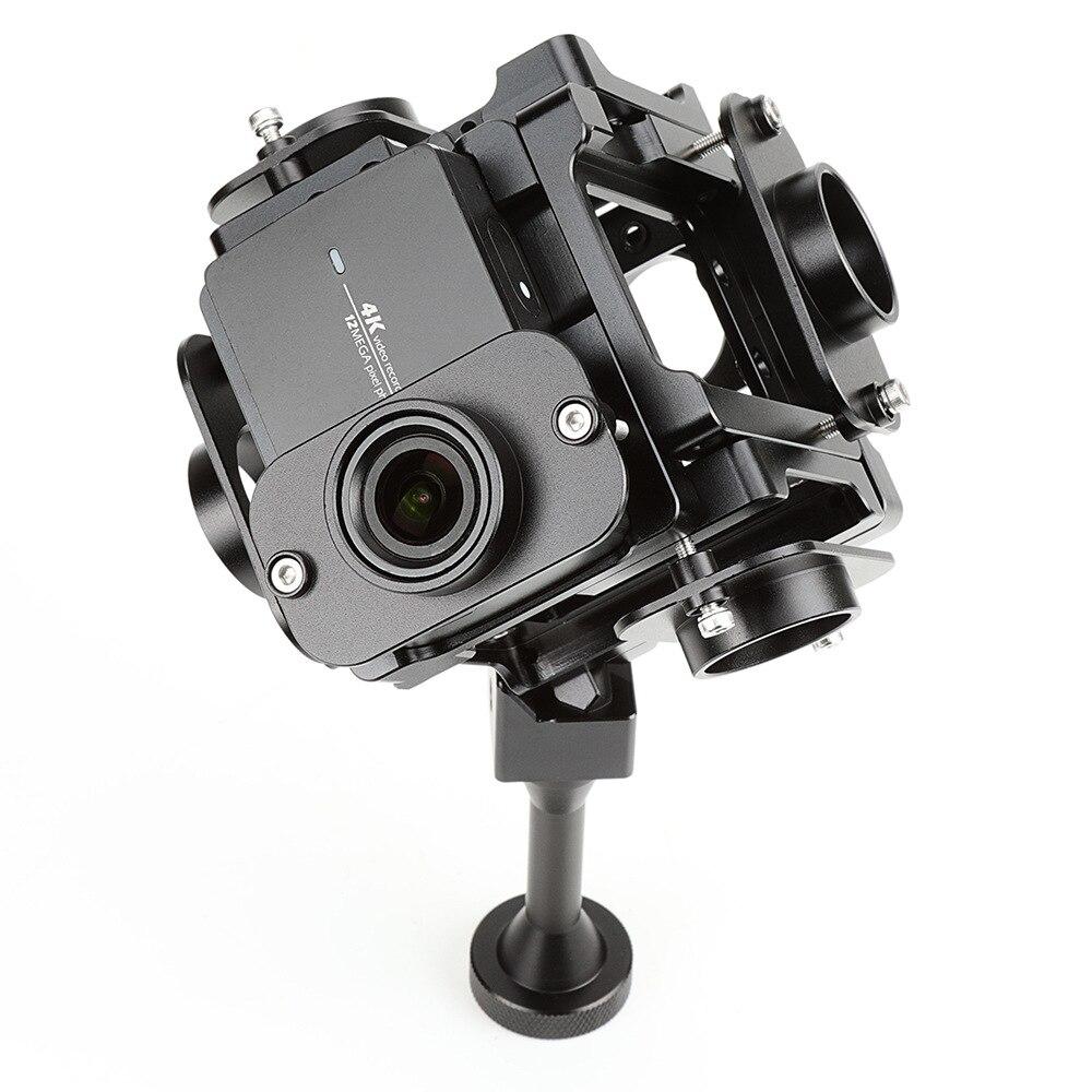 Accessoires EKENCAM pour Yi 360 degrés VR support panoramique accessoires de montage support pour Xiaomi YI 4 K Sport caméra montage 6 caméras