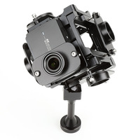 EKENCAM Accessories For Yi 360 degree VR Panoramic bracket Rig Accessories support for Xiaomi YI 4K Sport camera mount 6 Cameras