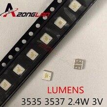 1000 Chiếc Ban Đầu Lumens LED 3535 Ánh Sáng Hạt Thoáng Mát Trắng Công Suất Cao 2.4W 3V Cho Đèn Led LCD đèn Nền Applicatio