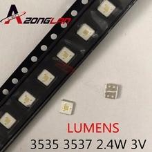 1000 pièces dorigine LUMENS LED 3535 perles de lumière blanc froid haute puissance 2.4W 3V pour LED LCD TV rétro éclairage Applicatio