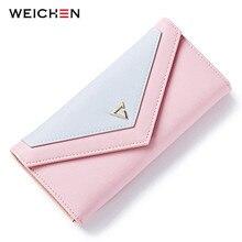 WEICHEN Горячие геометрические женские сумки бумажник для женщин брендовая Дизайнерская обувь Женский кошелек держатель для карт телефон карман для монет дамы